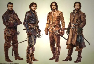 BBC's The Musketeers: Porthos, Athos, d'Artagnan and Aramis